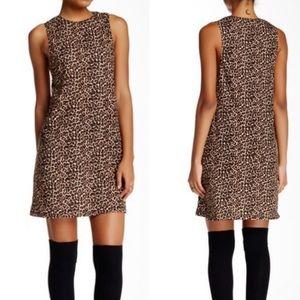 American Apparel Olivia Dress L Jersey Leopard